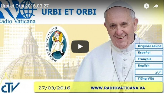 The Pope's Easter Address  Urbi et Orbi 2016.03.27