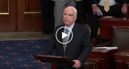 Senator McCain Floor Statement on Need for Bipartisanship